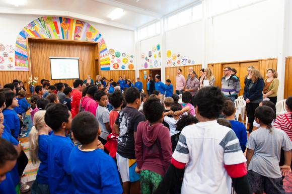 Singing in assembly