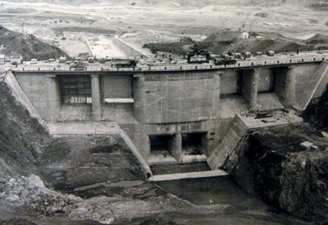 Benmore hydro station construction 3